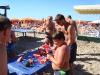 Fresco cocomero con famiglie a gabicce mare