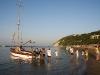 il Cutter ormeggiato in spiaggia a gabicce mare