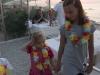 Bambini al tramonto a gabicce mare
