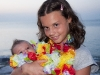 Vittoria e Bimba in spiaggia