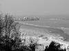 La spiaggia di Gabicce Mare coperta di neve