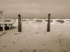 Ingresso innevato spiaggia gabicce mare