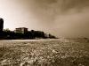 la neve sulla spiaggia di gabicce mare