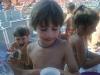 bambino imbaffato di nutella a gabicce mare