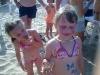 bambini in spiaggia con nutella a gabicce mare