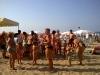 le famiglie in spiaggia a gabicce mare