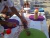 preparativi per festa a gabicce mare