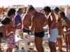 Gruppo bambini in spiaggia