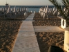 La spiaggia di sera al tramonto