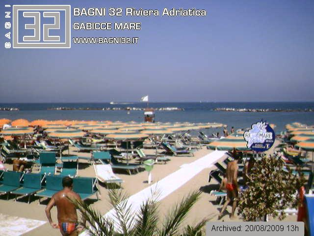 Webcam Live direttamente sulla spiaggia | Spiaggia 32 GabicceMare